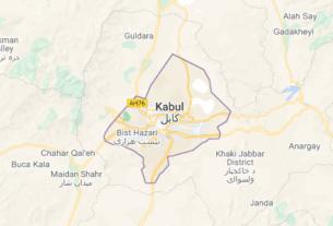 Map of Afghanistan Kabul