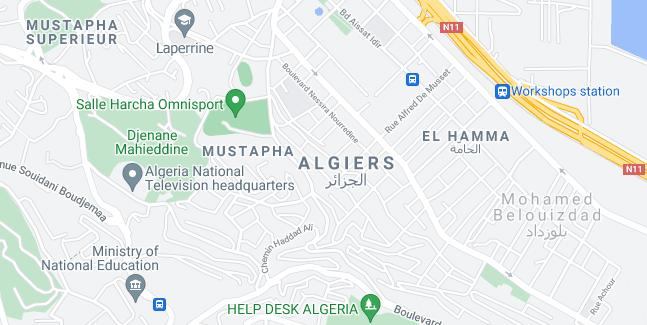 Map of Algeria Algiers