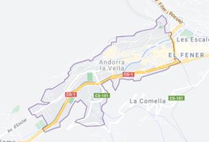 Map of Andorra la Vella