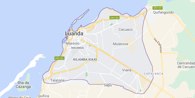 Map of Angola Luanda