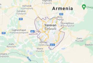 Map of Armenia Yerevan