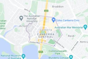 Map of Australia Canberra