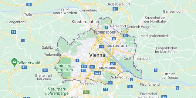 Map of Austria Vienna