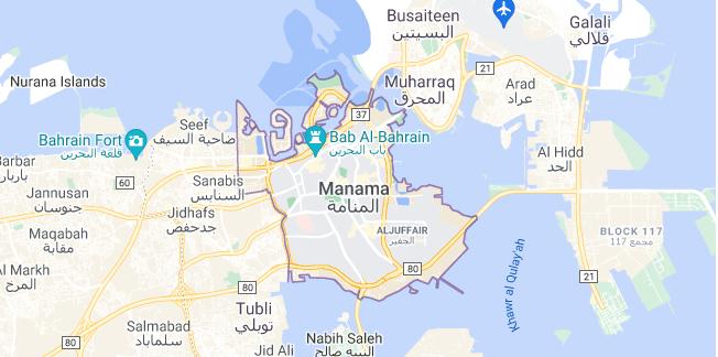 Map of Bahrain Manama