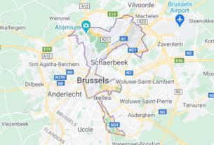 Map of Belgium Brussels