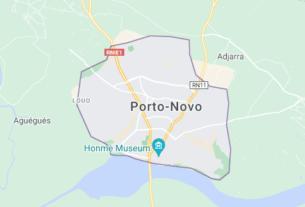 Map of Benin Porto Novo