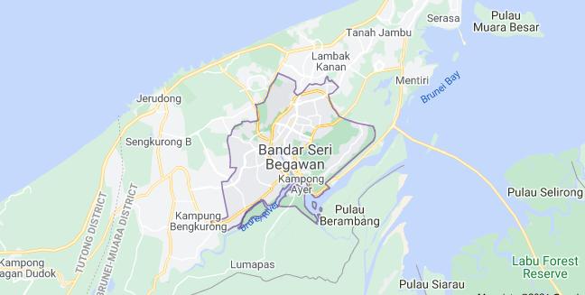 Map of Brunei Bandar Seri Begawan