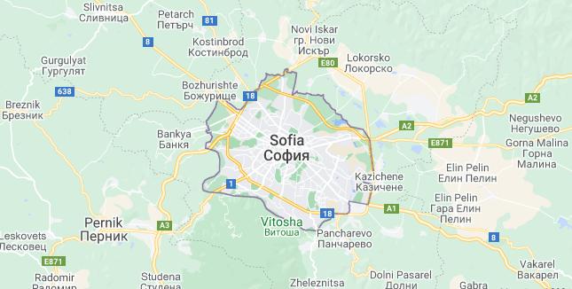 Map of Bulgaria Sofia