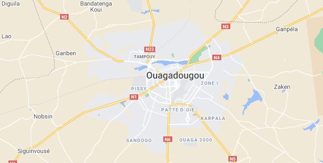 Map of Burkina Faso Ouagadougou