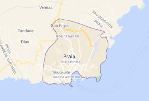 Map of Cape Verde Praia
