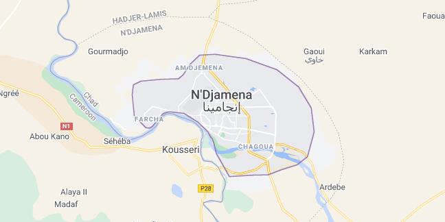 Map of Chad N'Djamena