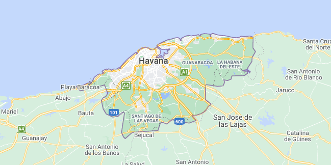 Map of Cuba Havana