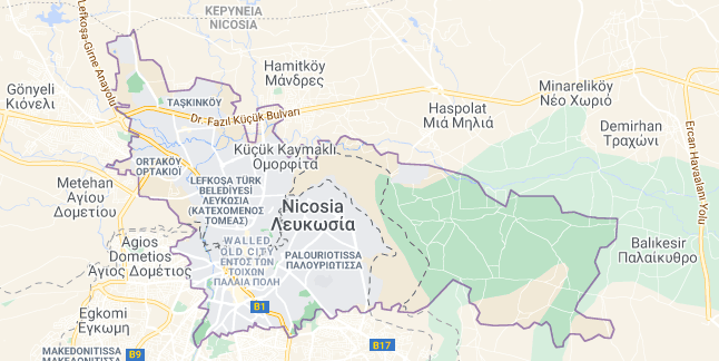 Map of Cyprus Nicosia