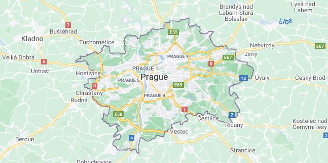 Map of Czech Republic Prague