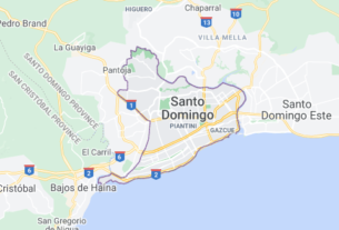 Map of Dominican Republic Santo Domingo