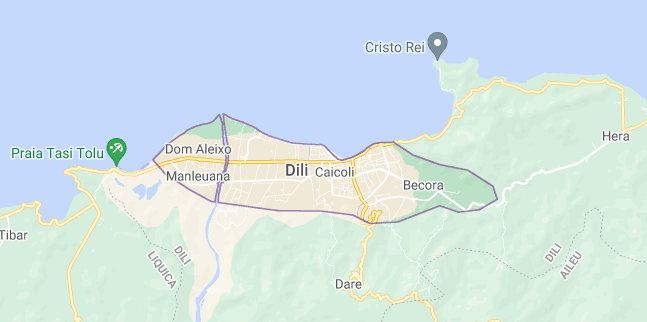 Map of East Timor Dili