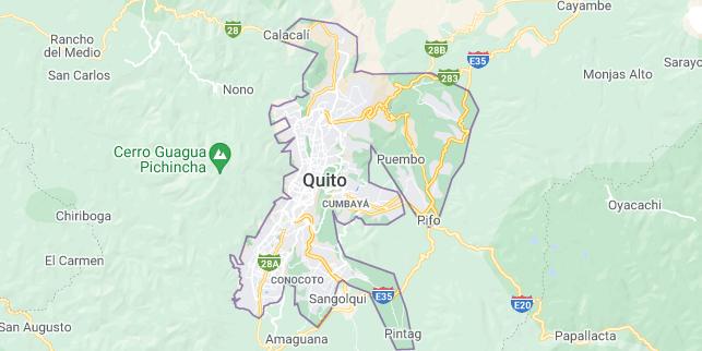 Map of Ecuador Quito