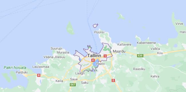 Map of Estonia Tallinn