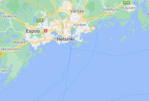 Map of Finland Helsinki