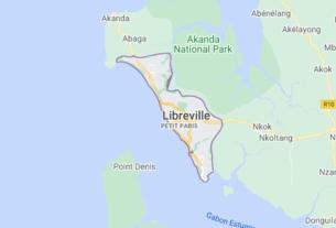 Map of Gabon Libreville
