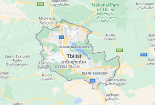 Map of Georgia Tbilisi