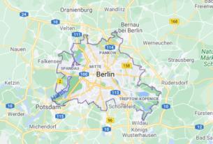 Map of Germany Berlin