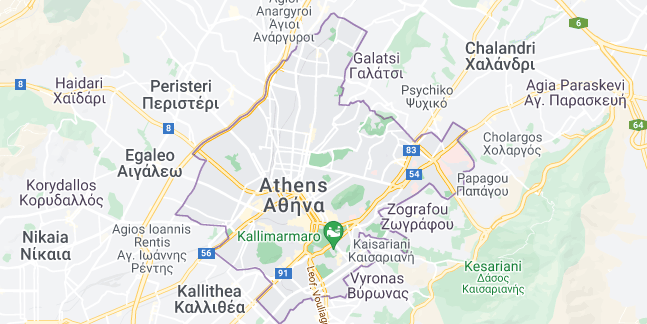 Map of Greece Athens