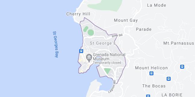 Map of Grenada Saint George's