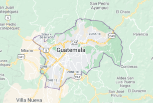 Map of Guatemala Guatemala City