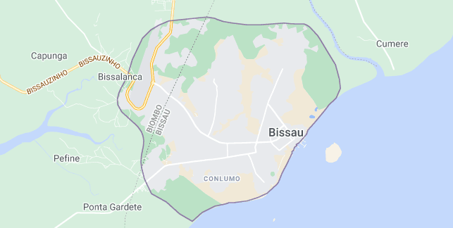 Map of Guinea-Bissau Bissau