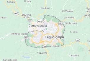 Map of Honduras Tegucigalpa