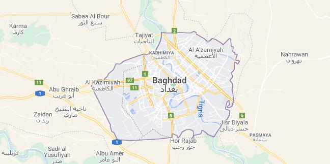 Map of Iraq Baghdad