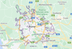 Map of Italy Rome