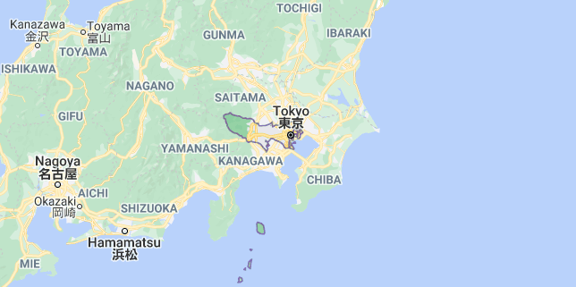 Map of Japan Tokyo