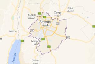 Map of Jordan Amman