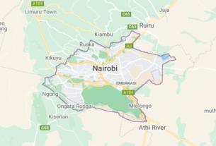 Map of Kenya Nairobi