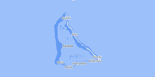 Map of Kiribati Tarawa Atoll