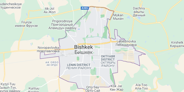 Map of Kyrgyzstan Bishkek