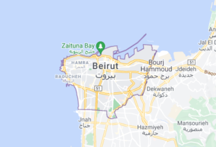 Map of Lebanon Beirut