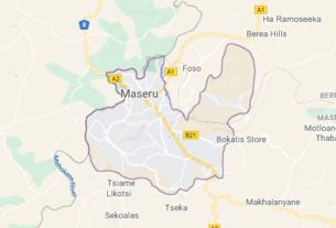 Map of Lesotho Maseru