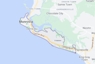 Map of Liberia Monrovia