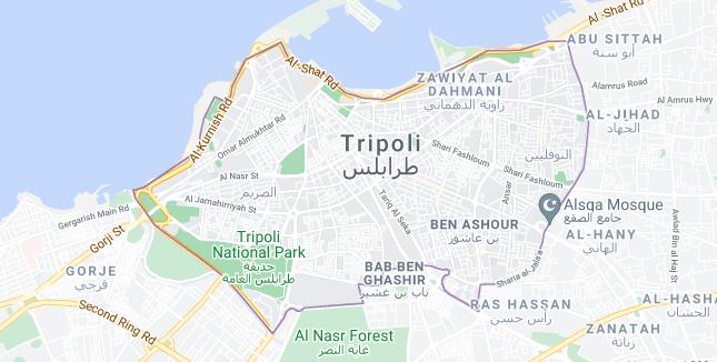 Map of Libya Tripoli