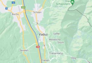Map of Liechtenstein Vaduz