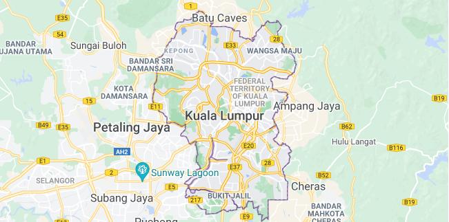 Map of Malaysia Kuala Lumpur