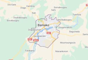 Map of Mali Bamako