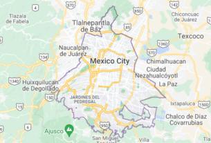 Map of Mexico Mexico City