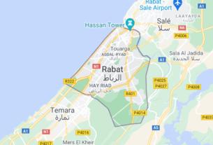 Map of Morocco Rabat