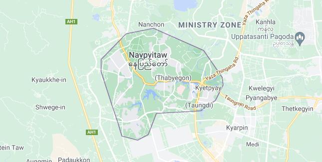 Map of Myanmar Nay Pyi Taw
