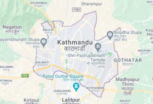 Map of Nepal Kathmandu