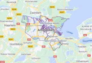 Map of Netherlands Amsterdam